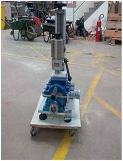 Cerchar abrasivity equipment