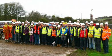 Structural Soils hosts Leeds University students on site at Wylfa
